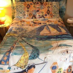 Anthropologie multicolored full/queen quilt